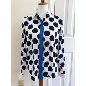 Ann Taylor polka dotted blouse